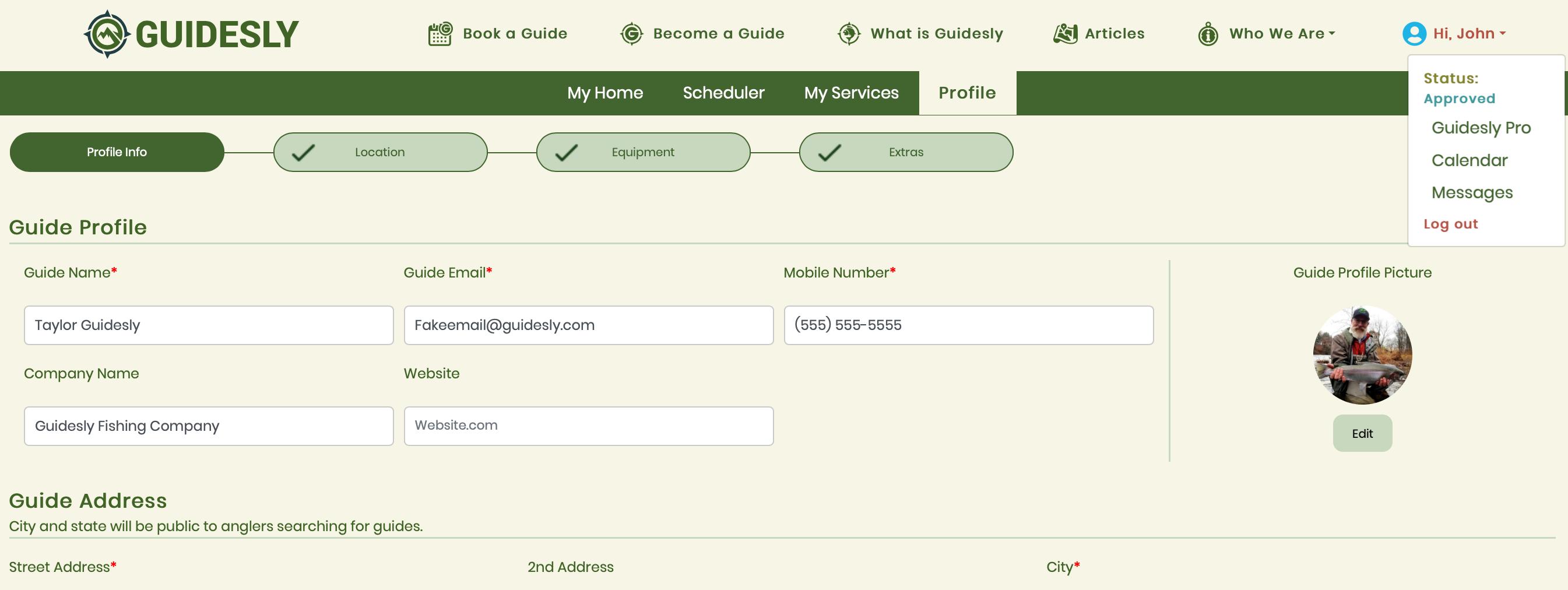 Web Profile Location