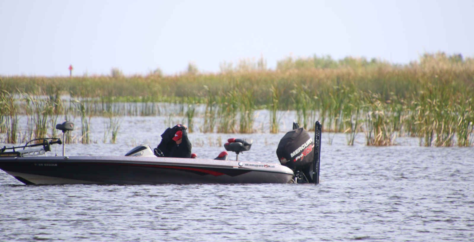 Bass Boat on Lake Okeechobee